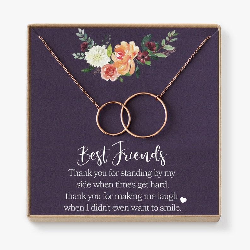 Best Friend Necklace Bff Necklace Best Friend Gift Jewelry Etsy