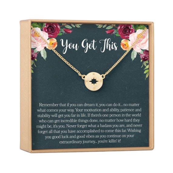 Inspirational Gift Empowering Motivational Quotes Encouragement Motivational Gift Necklace