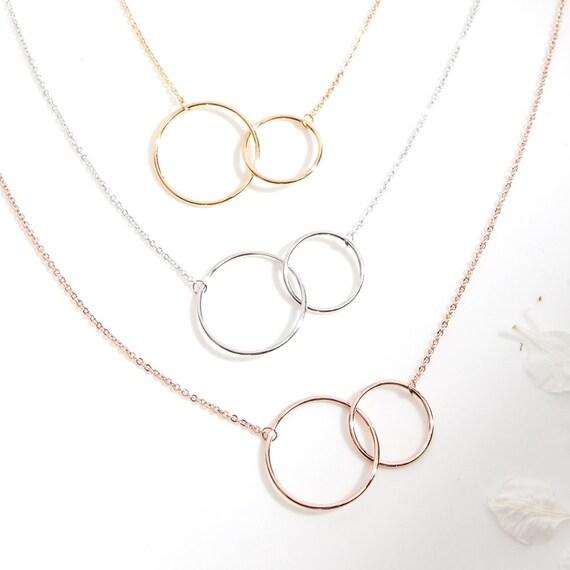 Best Mimi Ever 2 Linked Circles Dear Ava Mimi Gift Necklace: Grandma Mimi Mimi Jewelry