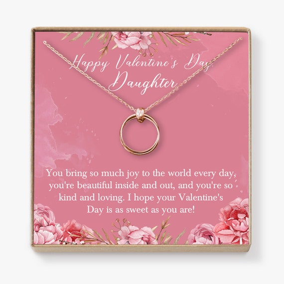 2 Asymmetrical Circles Valentines Day Dear Ava Gift for Girlfriend Necklace: Anniversary Birthday