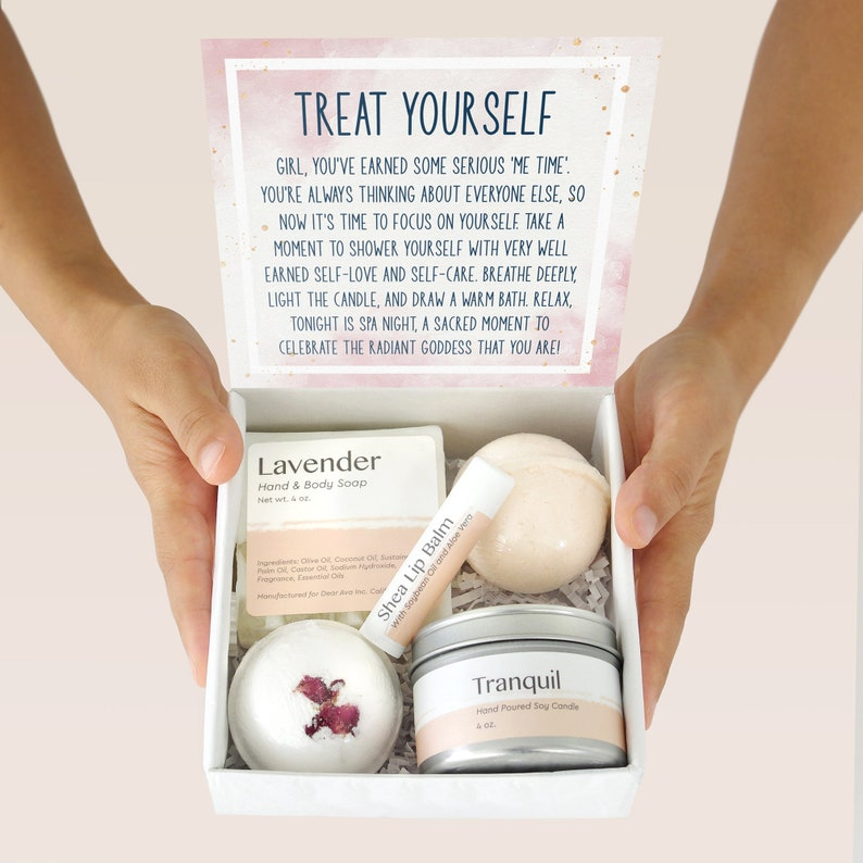 Self Care Gift Box Set: Relaxation Gift for Self Friend image 5