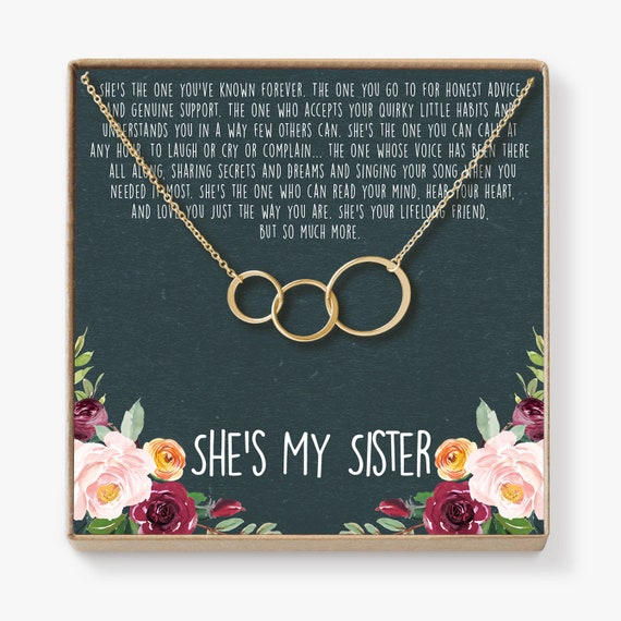 Gifts For Women Motivational Necklace Best Gift For Your Aunt Sister Best Friend Niece 3 Asymmetrical Circles