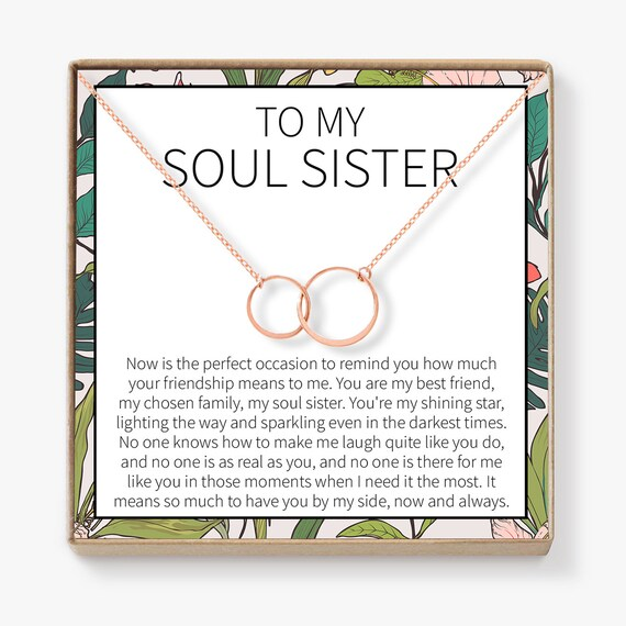Soul Sisters Necklace: BFF Necklace, Best Friend Gift Jewelry, Long  Distance, Quotes, Friends Forever, 2 Asymmetrical Circles