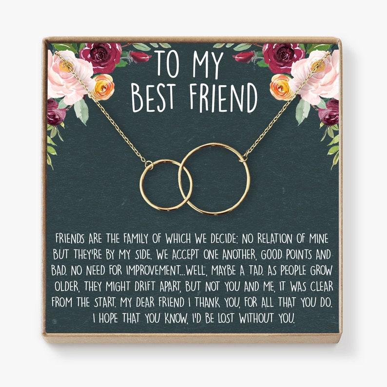 Best Friend Birthday Gift Necklace BFF