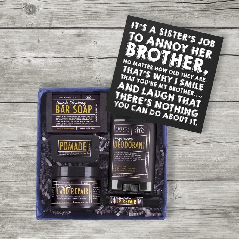 funny college graduation gift box to brother from sister