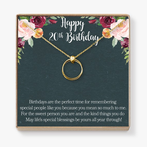 20th Birthday Gift Necklace Birthday Gift Two Decades Etsy