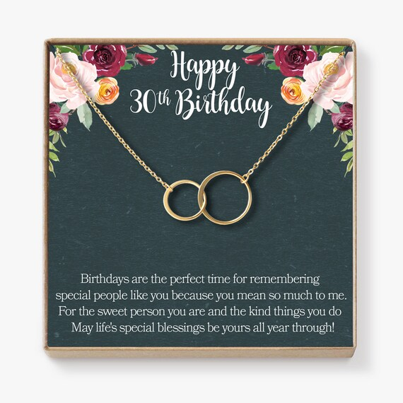 30th Birthday Gift Necklace