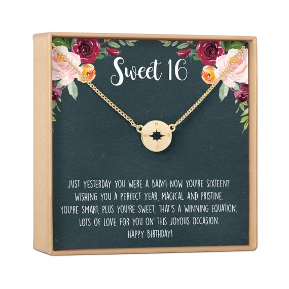 Sweet 16 Necklace Sweet 16 Jewelry Bday Gifts Heart Necklace 16th Birthday Gift Sweet 16 Gifts Custom Age Necklace Teen Necklace