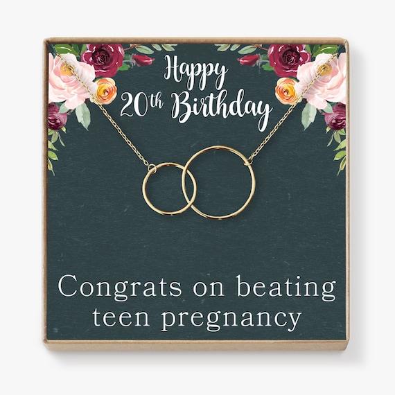 20 Geburtstag Geschenk Halskette Geburtstag Zwei Etsy