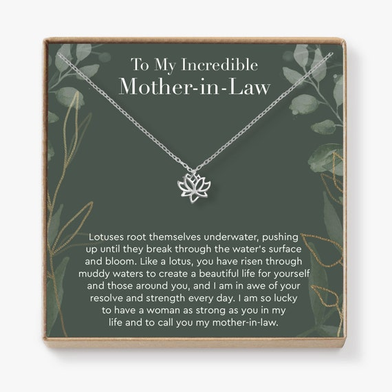 Mother In Law Lotus Necklace   Perfect Gift For Mother's Day, Get Well Soon, Surgery, Recovery And More, Lotus by Etsy