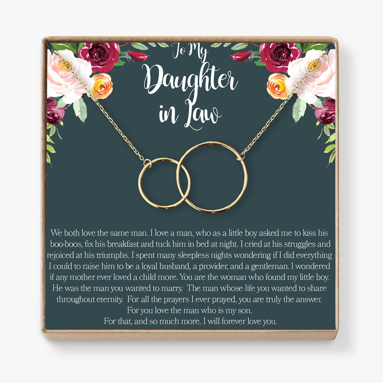 Schwiegertochter Geschenk Halskette: Hochzeitsgeschenk   Etsy