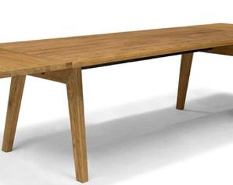 Mid Century Dining Table Etsy - Solid wood mid century dining table