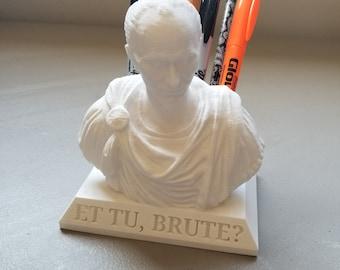 Julius Caesar Pencil Holder (with Custom Engraving Option)