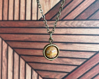Ocean Jasper Necklace / Silver or Bronze / Spinner Necklace / Joy Positivity Power Confidence Protection Necklace /Energy Protection Jewelry