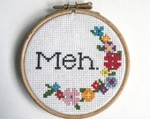 MEH Floral PATTERN - cross stitch