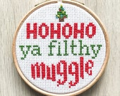 Christmas Harry Potter Cross Stitch Pattern