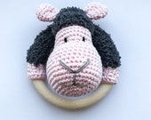 Sheep Rattle Pink - Finished Items - Crochet