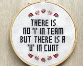 There Is No I In Team PATTERN - cross stitch