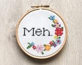 MEH Floral PATTERN - cross stitch
