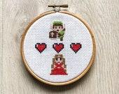 Link and Zelda PATTERN - cross stitch