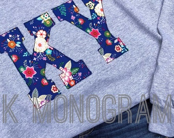 Navy Floral KY tshirt