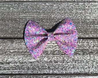 GLITTER hair bow / baby bow headbands / baby bows / baby headbands / toddler / clips / bows / nylon headbands / glitter bows