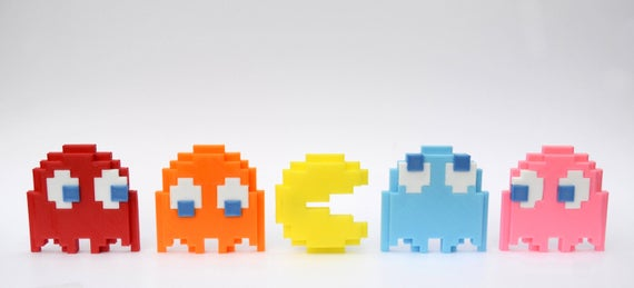 Pac-Man 3D Magnetic Sprite Gift Set