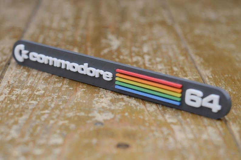 Commodore 64 logo 3D fridge magnet  shelf display Retro 80s 8bit video games accessories