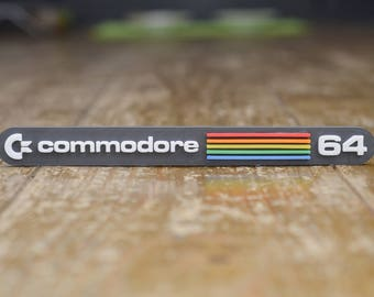 Commodore 64 3D magnet - Retro 80s 8bit Computer Logo Fridge Magnet. Perfect Father's Day Gift!