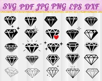 Diamond, Diamond svg, Diamond vector, Diamond silhouette Diamond, diamonds Cricut file svg, jpg, pdf,png,dxf,eps,jewelry svg,jewelry diamond