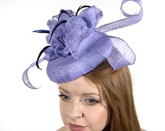 Cornflower Blue Wedding Hat