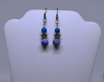 Sodalite & Blue Agate Earrings