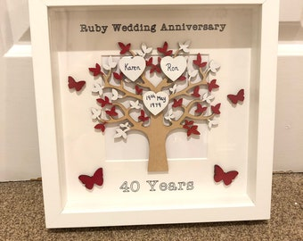 Ruby Wedding Gift Etsy