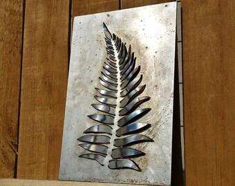 Custom metal fern leaf wall art