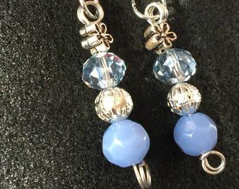 Winter Blues Dangle Earrings