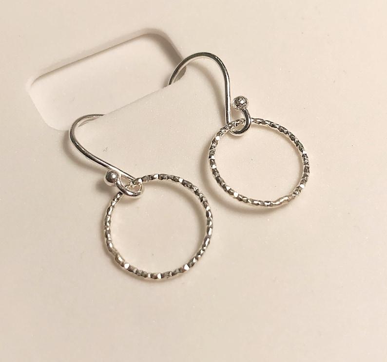 Silver halo earrings image 0