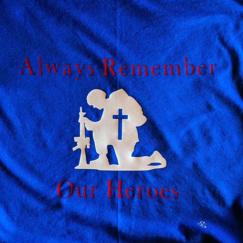 Always Remember Our Heroes Men/'s Shirt...Clearance