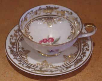 Gorgeous Vintage Demitasse Coffee Cup & Saucer, Gebruder Winterling, Bavaria.