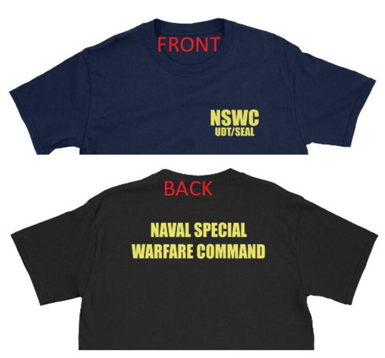 8272668ce3c Navy Seals Buds training shirt Naval Warfare Command