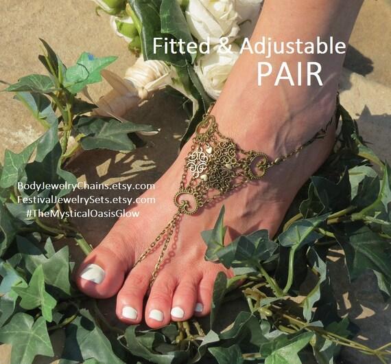 7 6 handmade Barefoot Sandals shoe 10 Bod 9 12 sz Sandals 11 for Womens 8 body Wedding free Jewelry Fitted womens chain Jewelry Nickel xPnw0Ywz7