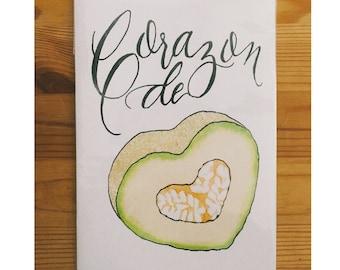 Corazon de Melon Greeting Card
