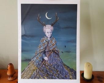 Cailleach Scottish Goddess Giclee Art Print