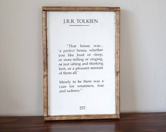 5eed1a53eed Tolkien quote Farmhouse sign   wood sign   farmhouse decor   JRR Tolkien  book quote   That house was a perfect house   Lord of the rings