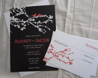 Love Birds Wedding Invitation - Printable Files