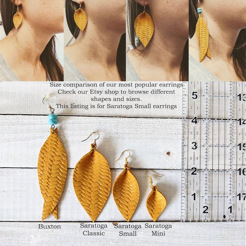 small saratoga petal earrings cork earrings Small cork feather earrings vintage rose pattern SS101