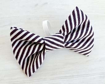 Striped Dog Bow Tie - Dog Bow - Bow For A Collar - Pet Bow - Striped Bow Tie - Collar Accessories