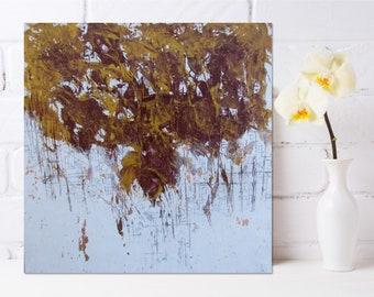 Abstract Painting Modern Wall Art Original Red Yellow Colorful Abstract Art Mixed Media Painting Fragmentation