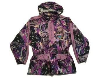 Clarissa explains it all vintage 90s Windbreaker Jacket coat hoodie Nickelodeon - sz XL