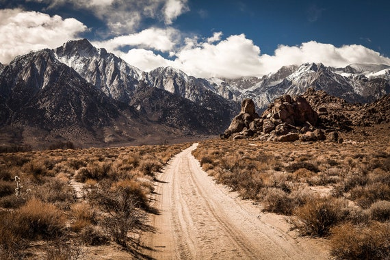 A Dirt Road To The Sierra Nevada Mountains Etsy