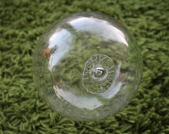 Glass fishing float, Vintage glass float, glass floats, Japanese glass float, fishing floats, glass ball, clear glass float, vintage fishing